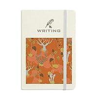 砂漠のサボテンのサバンナのオレンジの木 ノートブッククラシックジャーナル日記A 5を書く