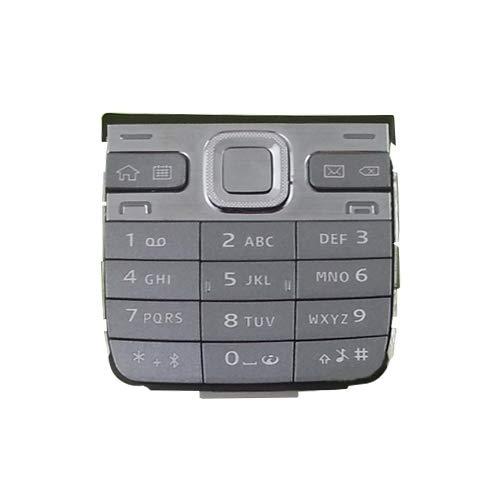 xiaowandou Reparar para su teléfono Reemplazo IPartsBuy móvil Teclado de un teléfono con Botones de menú Vivienda/Prensa Claves for Nokia E52 Accesorios a renovación (Color : Grey)