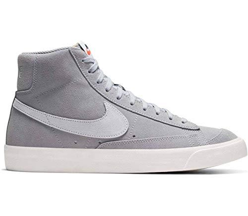 Nike Herren Blazer Mid '77 Suede Walking-Schuh, Wolf Grey/Pure Platinum-Sail, 43 EU