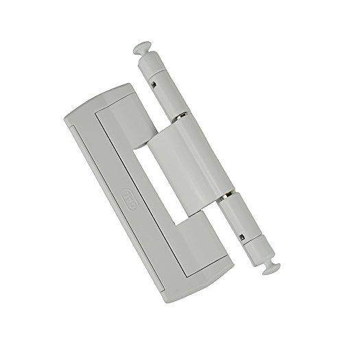 CAL Doublex H – Scharnierseitensicherung Fenstersicherung (weiß) Bandsicherung Türsicherung Aushebesicherung Einbruchschutz, Bandseitensicherung