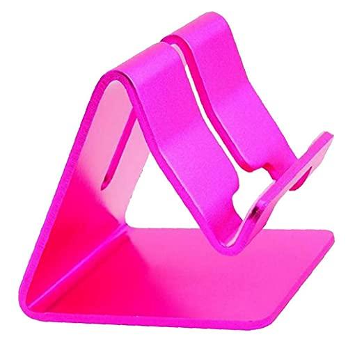 Sostenedor del teléfono móvil aleación de Aluminio de Soporte del teléfono Tableta del teléfono Celular Smartphone Muelle portátil Titular de la Base de Escritorio Color de Rosa