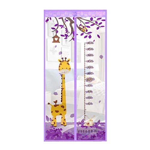 Patrón de verano botón magnético mosquitera cortina dormitorio cocina cortina de hilo suave anti mosquitera puerta puerta malla pantalla A4 W110xH210