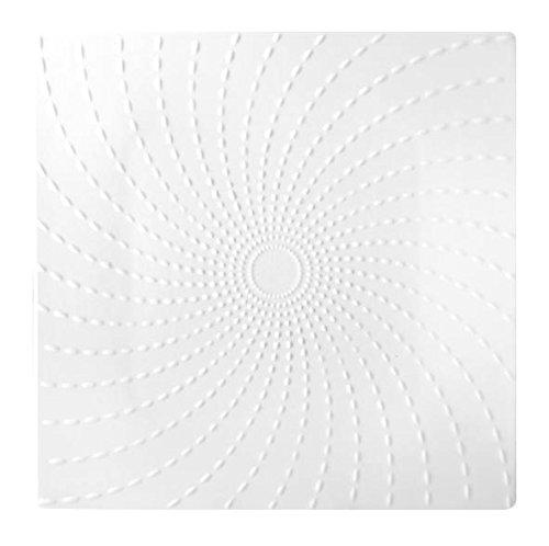 HOTELWARE Riz Plat carré, 20,5 cm, Porcelaine, Blanc