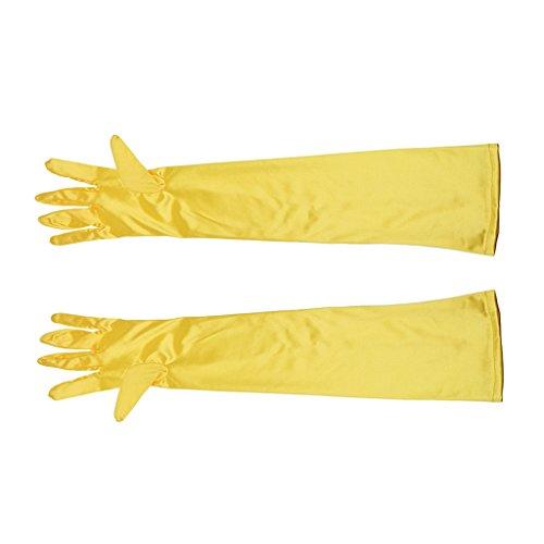 guanti gialli Sconosciuto Donna Guanti Taglia unica giallo