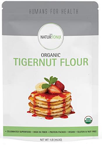 Naturtonix Tiger Nut Flour, 16 oz Resealable Fresh Pouch, Gluten Free, Non GMO, Nut Free, Paleo and Keto Diet Friendly, Certified Kosher