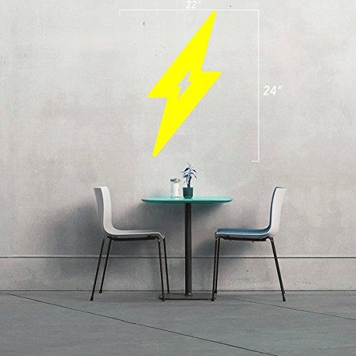 StickAny Wand Serie Lightning Bolt Aufkleber für Fenster, Zimmer, und Mehr. (Standard) Gelb