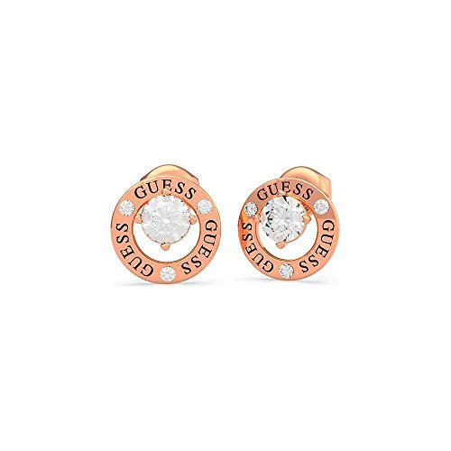 GUESS All Around You Rose-Gold Crystal Circle Stud Earrings UBE20136