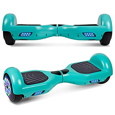 "UNI-SUN 6.5"" Hoverboard for Kids, Two Wheel Self Balancing Electric Scooter, Hoverboard with LED Lights for Adults, UL 2272 Certified Hover Board?Classic Green?"