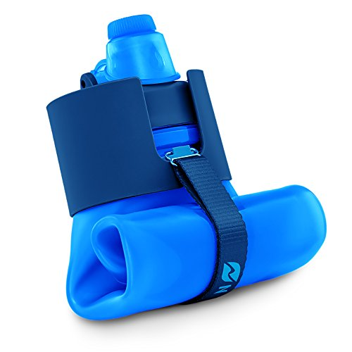 Nomader BPA Free Collapsible Sports Water Bottle - Foldable with Reusable Leak Proof...