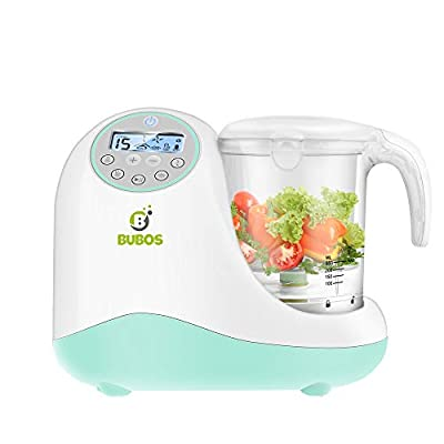 Bubos 5-in-1 Smart Baby Food Maker with Steam Cooker, Blender, Chopper, Sterilizer & Warmer for Organic Food Cooking, Pureeing & Reheating - BPA Free Food Processor with LCD Display