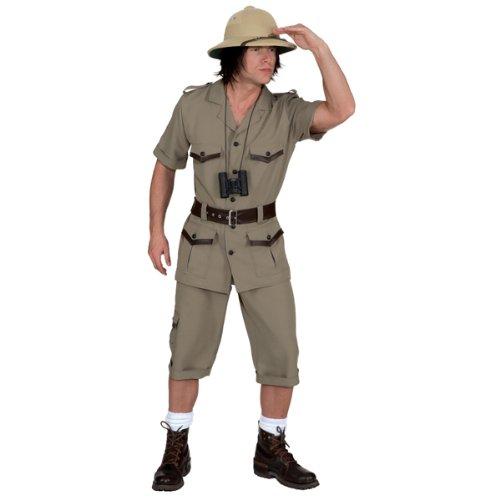 Safarianzug Oberteil,Hose,Gürtel Kostüm , Größe:58-60