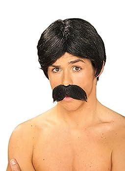 Burt Black Wig and Moustache Set [Apparel]