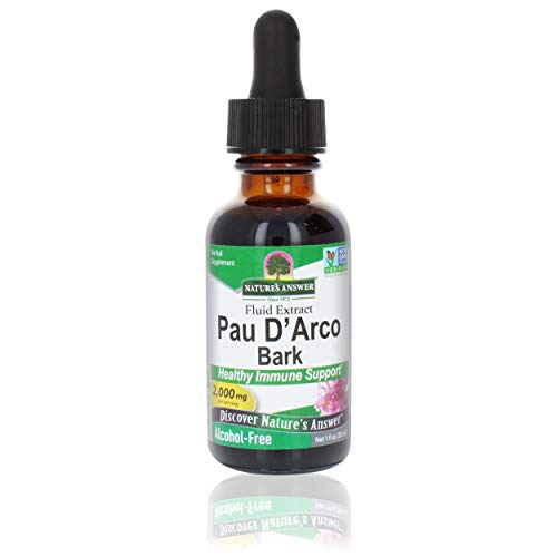 Nature's Answer PAU D'Arco Inner Bark | Supports Healthy Immune System | Helps Maintain Intestinal Flora | Alcohol-Free, Gluten-Free, Kosher Certified & No Preservatives 1oz