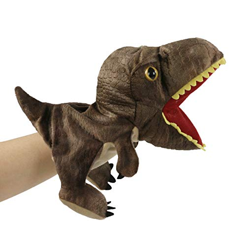 Bstaofy Plush Dinosaur Hand Puppet T-rex Stuffed Toy Open Movable Mouth for Creative Role Play Gift for Kids Toddlers on Birthday Christmas, (Style 2)