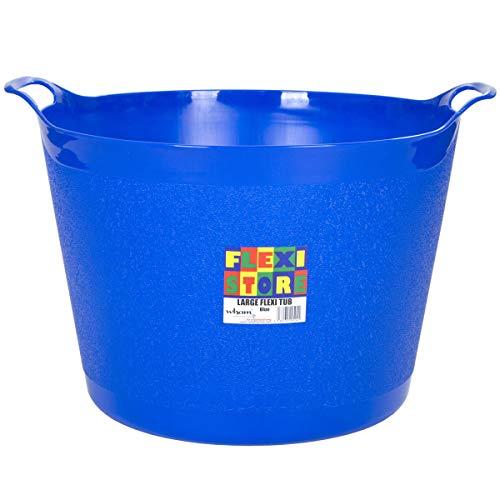 #11 Flexibler Eimer: 40 Liter in Blau, Korb Gartenkorb Haushaltskorb Spielzeugeimer Wäschekorb
