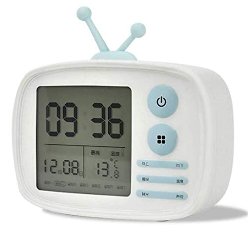 YSMLL Sveglia alla Sveglia Moda Creativa Styling Styling Clock Dimmerabile Luce Bianca Calda USB Ricaricabile per Bambini Sveglia 3 Colori Opzionale (Color : White)