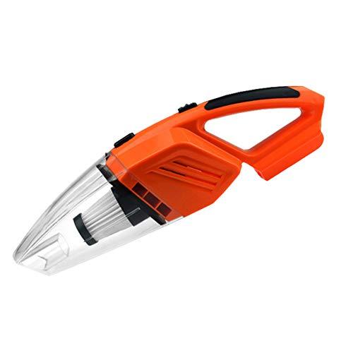 Z&LEI Aspirador portátil de la aspiradora, Mojado y seco con Doble Uso de la aspiradora de automóviles 120W con colector de Polvo de luz LED,Naranja