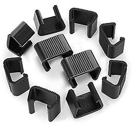 LAMTOP Lot de 10 clips pour meubles de jardin en osier et rotin pour meubles de jardin sectionnels ou sectionnels…