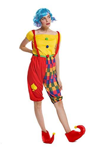 dressmeup - W-0232-M/L Costume Donna Carnevale Clown Arlecchino Buffone Taglia M/L