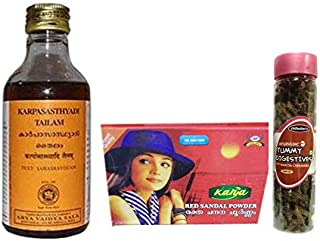 Kottakkal Arya Vaidya Sala Karpasasthyadi Tailam - 200ML, With Free Dilbahars Yummy Digestives Khatta Mitha Chhuhara 90gm...