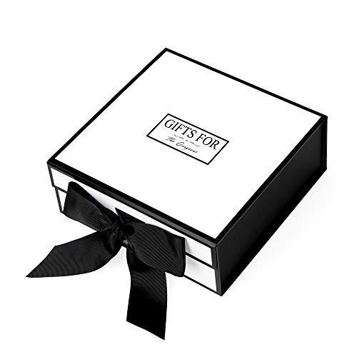 Geschenkbox großes Rechteck JIAWEI - 33x31x11.5cm mit Deckeln und Magnet -Verschluss für Hochzeiten Geburtstagsgeschenk und Baby -Brautjungfer FSA Geschenkbox mit einer Grußkarte und Tissue Paper.