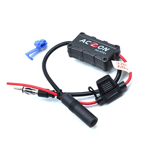 commercial AUTUT Cars Car FM Radio Antenna Signal Amplifier for AMUT FM Radio Stations auto antenna booster