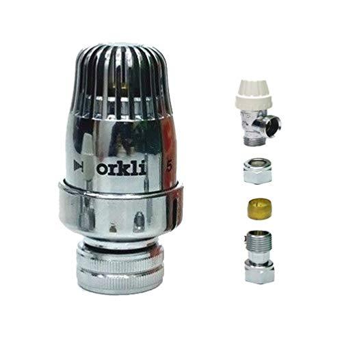 Orkli - Válvula termostática para radiador de bajo consumo (15 mm x 1/2