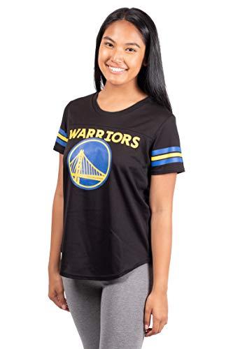 Ultra Game NBA Golden State Warriors Womens Soft Mesh Jersey Tee Shirt, Black, Medium