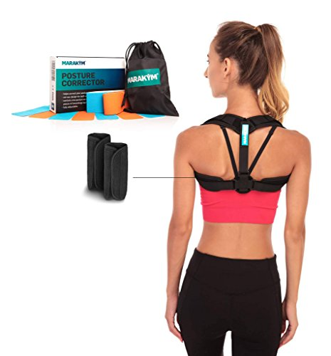 Posture Corrector – Adjustable Clavicle Brace to Comfortably Improve Bad Posture for Men and Women...