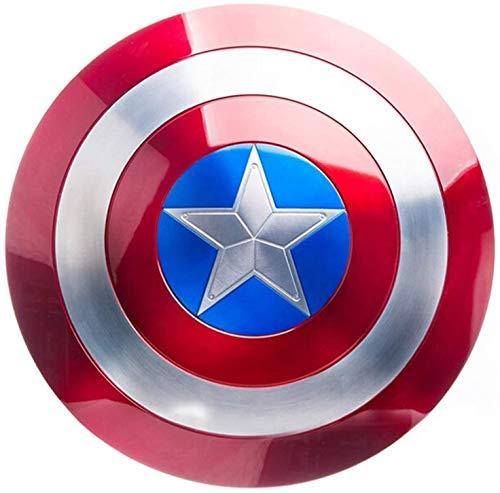 Los Vengadores Marvel Capitn Amrica Disfraz de Metal Shield +Soporte de Pintura Coleccion Aleacin de Grado de aviacin Adulto Uno Tamao 1: 1 Apoyos de Pelcula