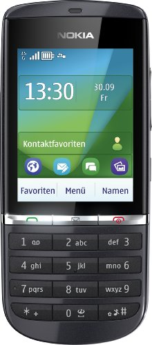 Nokia Asha 300 Handy (6,1 cm (2,4 Zoll) Display, Touchscreen, 5 Megapixel Kamera) Graphite