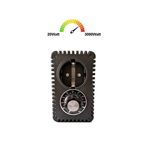 230V Leistungssteller 3000Watt Hoch-Leistungsdimmer Hoch-Leistungsregler