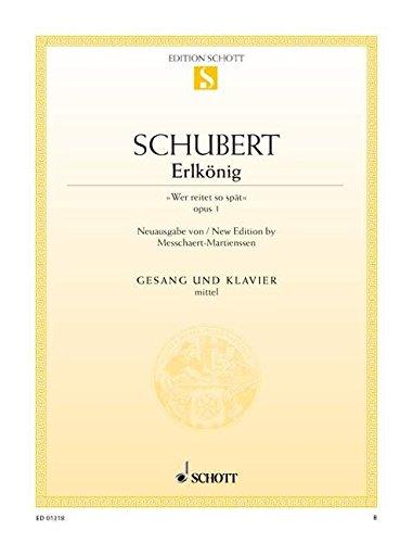 """Erlkönig: \""""Wer reitet so spät\"""". op. 1. D 328. mittlere Singstimme und Klavier. (Edition Schott Einzelausgabe)"""