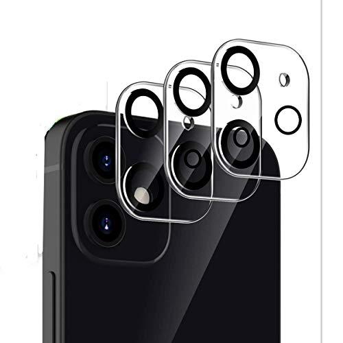 TLING [3 Pezzi Pellicola Fotocamera per iPhone 12 Mini, 9H AntiGraffio Protettore Fotocamera in Vetro Temperato per iPhone 12 Mini 5.4''