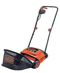 Svart+Decker elektrisk gräsmattefläkt (600W, för året runt-gräsmattavård, 30 cm arbetsbredd, 3 arbetshöjder) GD300-QS