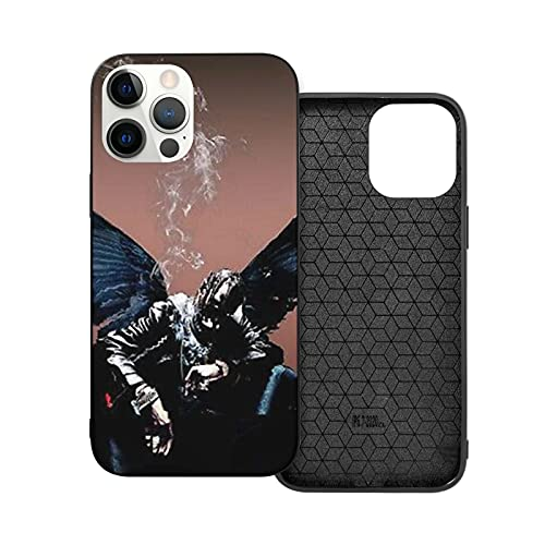 Compatibile con iPhone 12/11 PRO Max 12 Mini SE X/XS Max XR 8 7 6 6s Plus Custodie Rapper Travis Scot-T Nero Custodie per Telefoni Cover