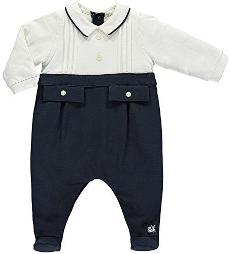 Emile et Rose Combinaison festive pour bébé 2 pièces avec bouton-pression sur le dos et boutons pression en mode festif - Bleu - 1 mois