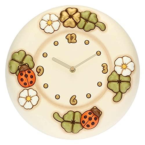THUN ® - Orologio da Parete con Fiori, Coccinelle e quadrifogli Portafortuna
