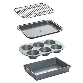 Chicago Metallic 8044 Non-Stick Toaster Oven Set, 4-Piece (B0001WPNA4) | Amazon price tracker / tracking, Amazon price history charts, Amazon price watches, Amazon price drop alerts