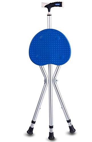 Multifunctionele krukstoel met lamp voor oudere barkrukken met vier krukken, antislip, stokkenkisten.