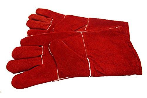 DSYJ Gloves High Temperature Stove Long Lined Welders Gauntlets