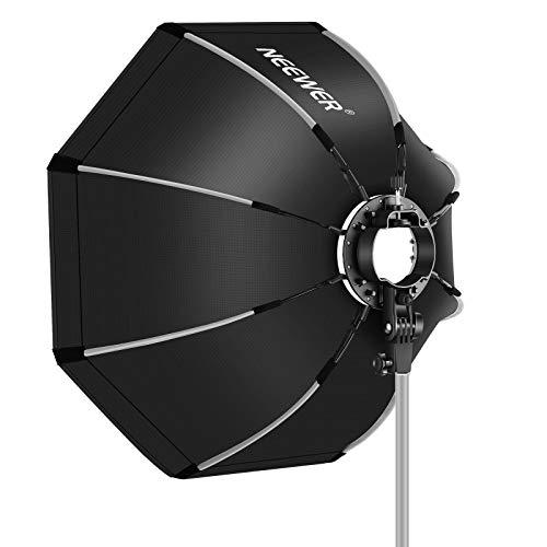 Neewer 65 CM Caja de Luz Octogonal con Soporte Tipo S Estuche de Transporte Compatible con Flash de Cámara Speedlites Q3 R1 V1 Z1 TT560 NW550 NW561