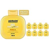 Gel Baño y Ducha Vainilla Agrado 750 ml - Pack de 8 unidades