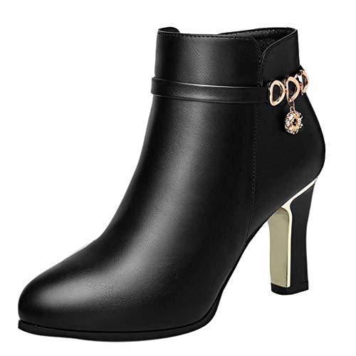 DERENFR Bottes Femme Pas Cher Soldes Chaussures De...