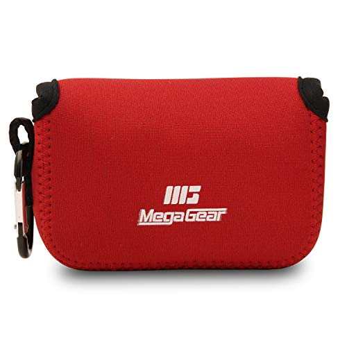 MegaGear MG818 - Funda de Neopreno con mosquetón para cámara Canon PowerShot SX620 HS, Color Rojo