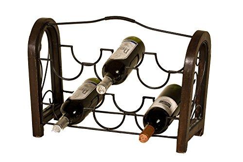 Botellero forja-madera 6 bot