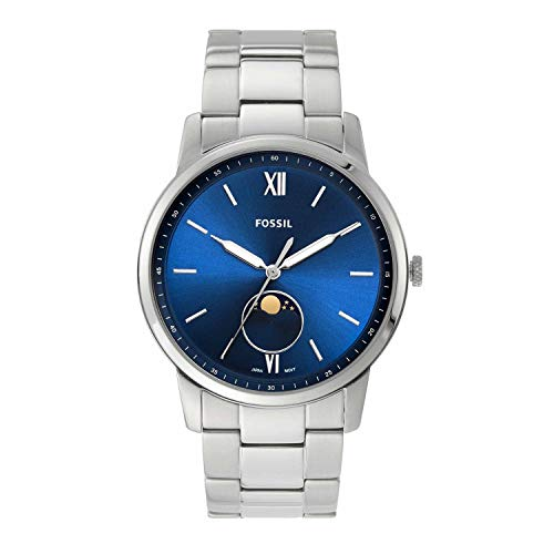 Fossil The Minimalist Moonphase Multifunction Stainless Steel Watch FS5618