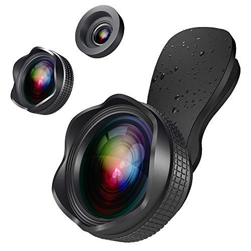 スマホ用カメラレンズ スマホレンズ 広角レンズ マクロレンズ クリップ式レンズ 綺麗な花びら型 高画質 iPhone用 Android タブレットなど対応 Yarrashop