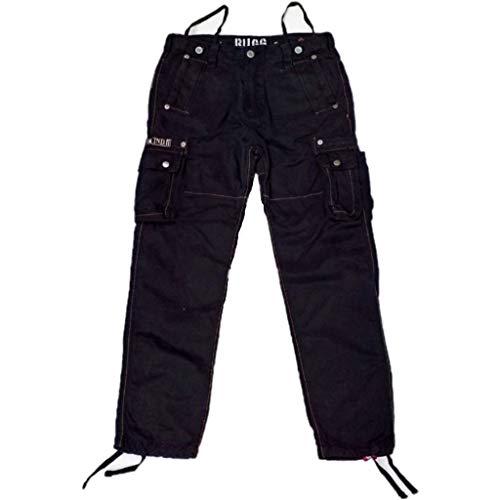ALPHA INDUSTRIES Rugg Pant Cargohose Baumwolle viele Taschen, Farbe:Black, Groesse:31