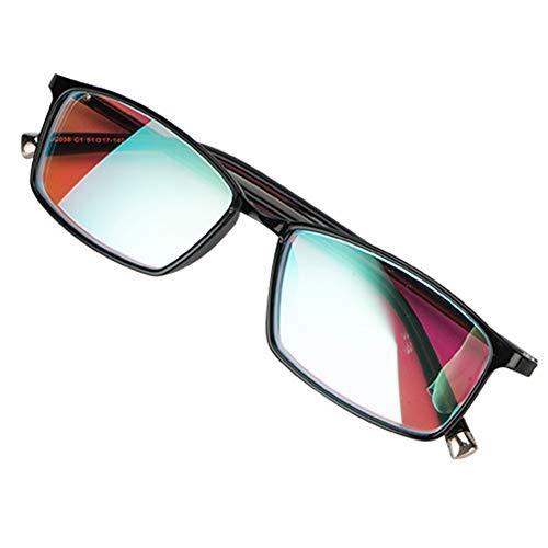 Farbblinde Korrekturbrillen Für Rot-Grün-Blindheit, Für Farbsehstörungen, Farbschwäche, Unisex-Farbblindbrille, Schwarzer Rahmen,fullframe